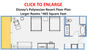 Floor Plan Of A Room by Photo Tour Of A Larger Refurbished Room At Disney U0027s Polynesian Resort