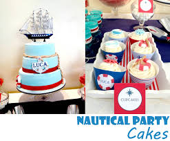 Nautical Party Theme - nautical party cakes nicely done perfectly matching a nautical