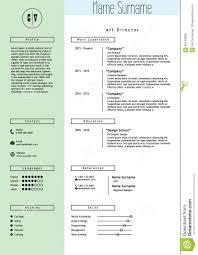 Minimalist Resume Vector Creative Resume Template Minimalist Style Stock Vector