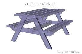 Plans For Building A Children S Picnic Table by Bepa U0027s Garden New Plans A Child U0027s Picnic Table