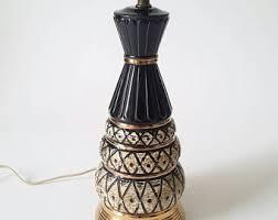 vintage black and gold lamp etsy