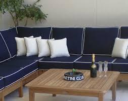 Teak Sectional Patio Furniture - teak port sectional ottoman u0026 table set