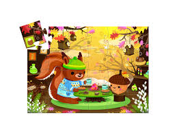 cuisine duo vilac djeco silhouette puzzle the squirrel s snack