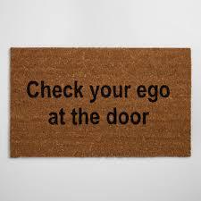 Hawaiian Doormats Check Your Ego At The Door Doormat World Market