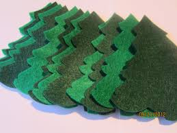 diy felt christmas trees ornaments evergreen trees die