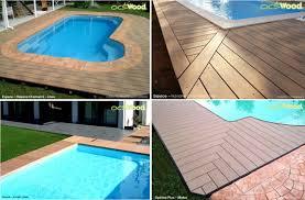 plage de piscine du bois composite pour ma plage de piscine