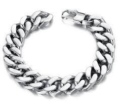 mens clasp bracelet images 10 12 14mm curb cuban stainless steel bracelet mens chain clasp jpg