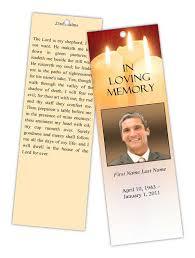 memorial bookmarks sacred candles memorial bookmark template funeralprogram
