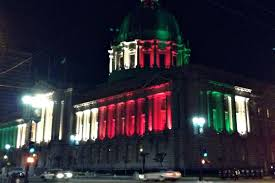 sf city hall lights city hall goes red and green in a different way to honor mexico