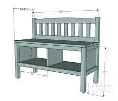 ana white cottage bench with storage cubbies diy projects