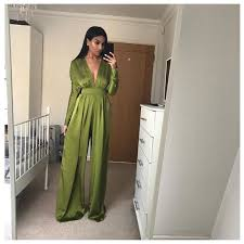 green jumpsuit benita sleeve green empire line jumpsuit oh my purple