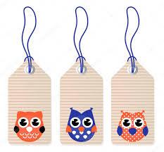 cute halloween owl blank tags u2014 stock vector beeandglow 11115796