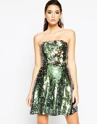 new years dresses for sale image 1 of asos sequin bandeau mini dress clothing