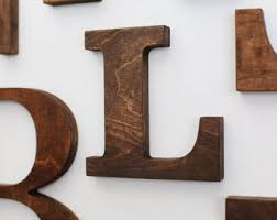 wood letters etsy