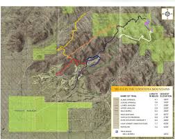 Uofa Map Hiking In The Tortolita Mountains Southernarizonaguide Com