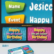 fast free download graphicriver kids birthday voucher bundle