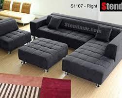 review 5pc new modern gray microfiber big sectional sofa set