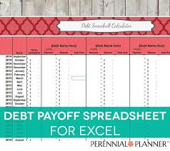 Debt Payoff Spreadsheet Excel Debt Payoff Calculator Debt Payoff Spreadsheet Debt Snowball
