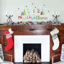 falala llama holiday wall decals paper riot falala llama holiday wall decals