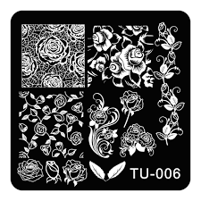 beautiful nail art stamping plates rose flowers vine designs