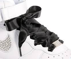 ribbon shoelaces black flat satin ribbon shoelaces shoe laces ideal