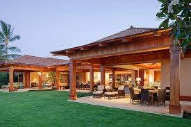 outdoor living plans indoor outdoor living house plans exterior tropical with shaded
