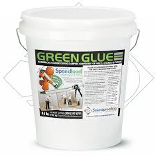 green glue soundproofing walls ceiling and floors pails and tubes green glue bulk noiseproofing and soundproofing compound