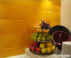 MexicanTilescom Kitchen Backsplash With Gold Yellow Mexican - Mexican backsplash tiles