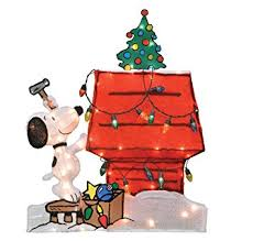 snoopy doghouse christmas decoration productworks snoopy and dog house decoration