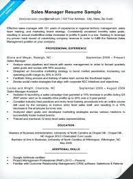 sample of a sales resume sample project manager resume example