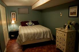 adorable basement bedroom ideas with comfortable bed on sleek