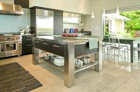 metal kitchen island tables stainless steel kitchen island with marble top stainless kitchen