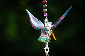 keepsakes for ashes handcrafted glass hummingbird with sterling silver keepsake vial
