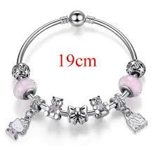murano bead bracelet images Cute children cat hello kitty charms bracelet for kids girls jpg