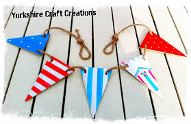 Wooden Nautical Flags Nautical Beach Hut Style Wooden Bathroom Bunting Flags Handmade