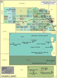 Nebraska Usa Map by List Of Universities In Nebraska Map Of Nebraska Colleges And