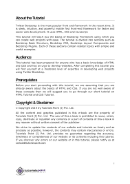 bootstrap tutorial tutorialspoint bootstrap tutorial