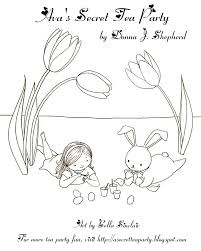 ava u0027s secret tea party coloring page the easter bunny and ava