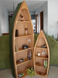 6 foot handcrafted wood row boat bookshelf bookcase poppasboats