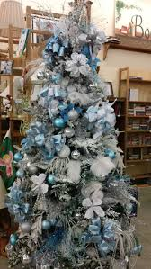 53 best blue and silver christmas trees images on pinterest noel