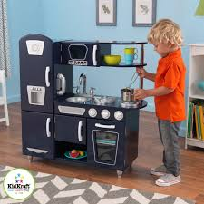 kidkraft navy vintage play kitchen 53296 hayneedle