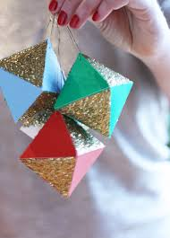 geometric paper ornaments best friends for frosting