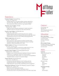 Resume With Color Resume U0026 Wordmark U2013 Fraher Gra617