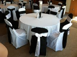 black and white chair covers i think a black table linen with alternating black and white