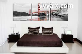 Red Black And White Bedroom Designs 3 Piece Black And White City Group Canvas