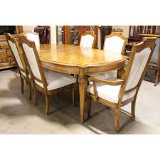 burlington oak dining table with 6 chairs upscale consignment