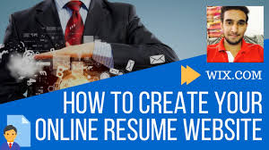 Online Resume Site by How To Create Your Online Resume Website Wix Tutorial Free