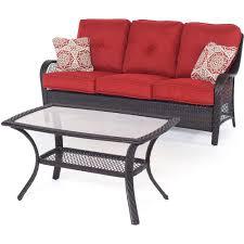 conversation set patio furniture cosco malmo 4 piece brown resin wicker patio conversation set with