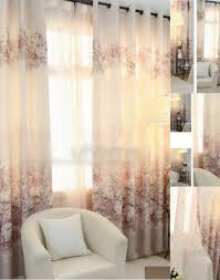 beige flowers country style eco friendly curtains window