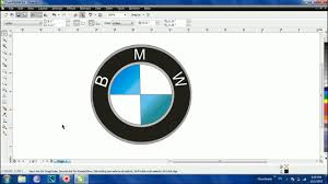 logo bmw 3d how to make bmw logo in corel draw youtube